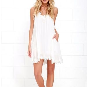 Lulu's Ivory Shift Dress